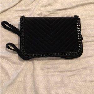 Aldo Black Velvet Handbag